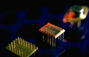 Photo of electronic components